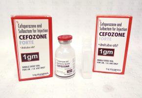 Cefoperazone and Sulbactam for Injection IP 1g (Cefozone Forte) Taj Pharma
