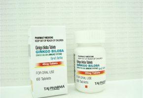 Ginkgo Biloba Tablets IP 40mg Taj Pharma
