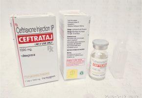 Ceftriaxone Injection IP 1000mg (Ceptradin) Taj Pharma