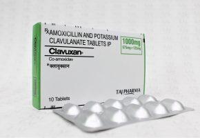 Amoxycillin & Potassium Clavulanate Tablets (Clavuxan) 875mg/125mg Taj Pharma